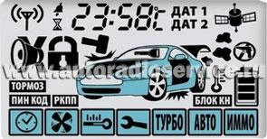 Дисплей брелока автосигнализации