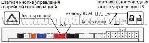 Схема подключения 16-контактного разъема