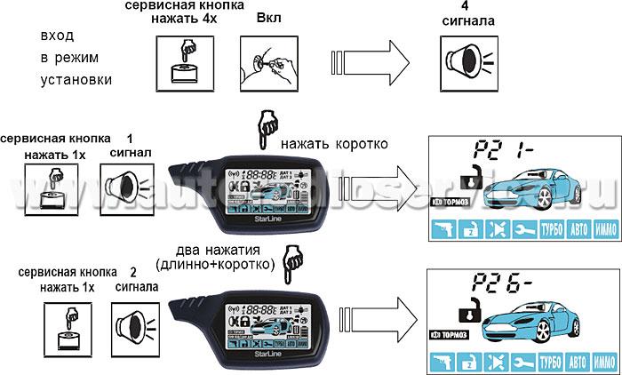 сигнализация Starline инструкция по эксплуатации B6 - фото 5