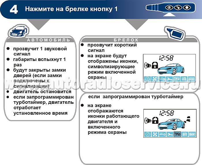 Сигнализация с автозапуском старлайн в9 инструкция